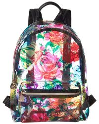 Betsey Johnson - Clear Floral Backpack - Lyst