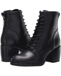 Patricia Nash - Sicily (black Hand Stained Leather) Women's Lace-up Boots - Lyst