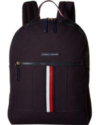 5713ab75 Tommy Hilfiger - Flag Corporate Canvas Backpack (navy) Backpack Bags - Lyst