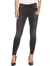 Two By Vince Camuto | Black Released Hem Five-pocket Ankle Jeans In Coal Wash | Lyst
