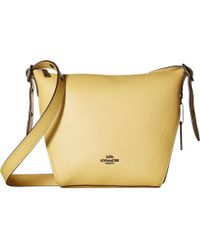 c0019b90cf COACH - Small Dufflette In Natural Calf Leather (dk chalk) Handbags - Lyst