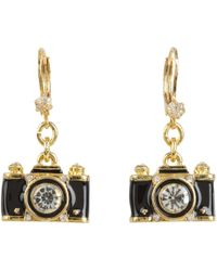 Betsey Johnson - Royal Engagement Camera Stud Earrings - Lyst