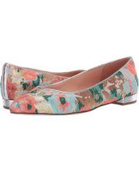 c08ce7de4497 J.Crew - Pointy Toe Flat In Brocade (teal Guava Multi) Women s Shoes