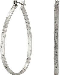 Lucky Brand - Textured Medium Oblong Hoops (gold) Earring - Lyst