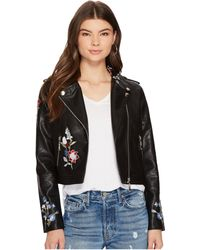 Bishop + Young - Embroidered Moto Jacket - Lyst