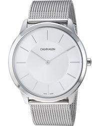 Calvin Klein - Minimal Extension Watch - K3m2t126 (silver) Watches - Lyst