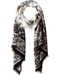 Vince Camuto - Chintz Floral Pashmina Wrap (white) Scarves - Lyst