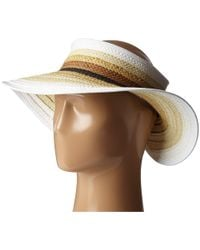 11e09737f49 San Diego Hat Company - Pbv007 Paper Braid Adjustable Roll Up Visor With  Ribbon Edge (