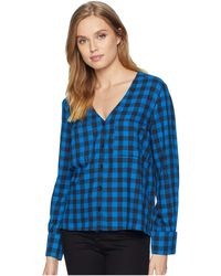 Volcom - Check Out Time V Neck Button Up Front Shirt, - Lyst