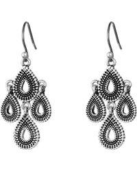 Lucky Brand - Blue Moon Moveable Chandelier Earrings (silver) Earring - Lyst