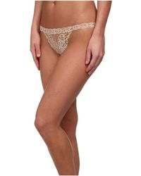 Natori - Feathers Thong (cafe) Women's Underwear - Lyst