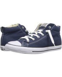 Converse - Chuck Taylor(r) All Star(r) Street Core Canvas Mid (white/natural/white) Lace Up Casual Shoes - Lyst