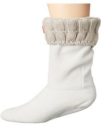 HUNTER - 6 Stitch Cable Boot Sock - Short - Lyst