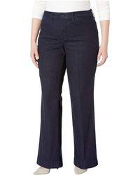 f4aae74e09948 Lyst - NYDJ Plus Size Teresa Trouser in Blue