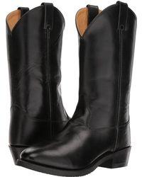 Old West Boots - Uniform Boot (black) Cowboy Boots - Lyst