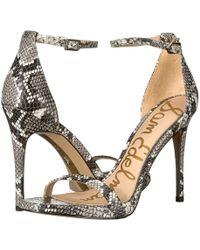 acc58380752 Sam Edelman - Ariella Strappy Sandal Heel (jute Leather) Women s Shoes -  Lyst