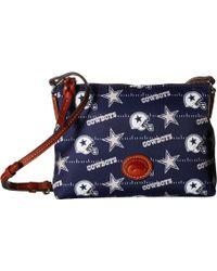Dooney & Bourke - Nfl Nylon Crossbody Pouchette (red/tan/49ers) Cross Body Handbags - Lyst