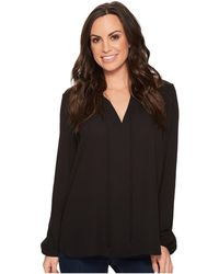 Stetson - 1494 Poly Crepe Shirred Blouse - Lyst
