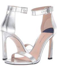 e42754907ab Stuart Weitzman - 100squarenudist (argento Crack Lame) Women s Shoes - Lyst