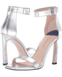 72ed049ae73 Stuart Weitzman - 100squarenudist (argento Crack Lame) Women s Shoes - Lyst