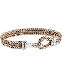 John Hardy - Classic Chain Hook Clasp Bracelet (silver/bronze) Bracelet - Lyst