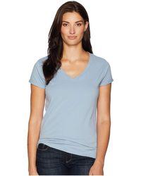 Dylan By True Grit - Effortless Short Sleeve V Tee (denim) Women's T Shirt - Lyst