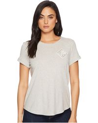 Lauren by Ralph Lauren - Bullion-embroidered Jersey T-shirt - Lyst