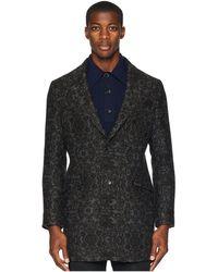 Etro - Brocade Overcoat (grey) Men's Coat - Lyst