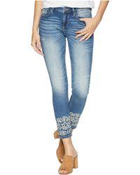 Miss Me - Embellished Ankle Skinny Jeans In Medium Blue (medium Blue) Women's Jeans - Lyst