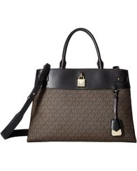 f8d703fbb51c MICHAEL Michael Kors - Gramercy Large Satchel (brown black) Satchel  Handbags - Lyst