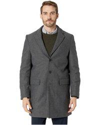 Calvin Klein - Herringbone Overcoat (charcoal) Men's Coat - Lyst
