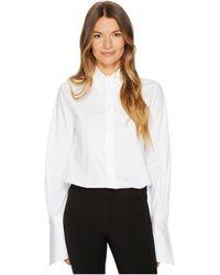 Jil Sander Navy - Cotton Poplin Long Sleeve Collared Shirt - Lyst