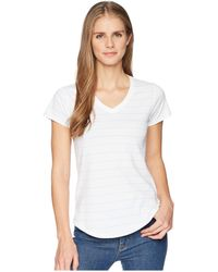 Mountain Khakis - Cora Short Sleeve Crew (linen Stripe) Women's Clothing - Lyst