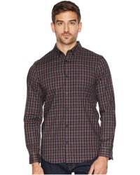 Calvin Klein - Long Sleeve Heather Multi Plaid Button Down (cabernet) Men's Long Sleeve Button Up - Lyst