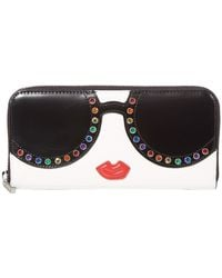 Alice + Olivia Candice Stace Face Long Wallet - White