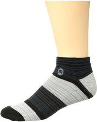 Travis Mathew - Strelec (grey Pinstripe) Men's Crew Cut Socks Shoes - Lyst