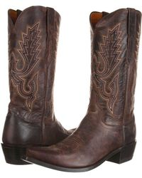 Lucchese - M1002 (chocolate Madras Goat) Cowboy Boots - Lyst
