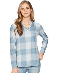Woolrich - Over And Out Shirt (bluestone Check) Women's Clothing - Lyst