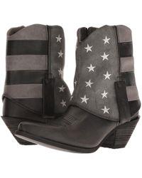 Durango - Crush Fold Down Flag Boot (black/charcoal/grey) Cowboy Boots - Lyst