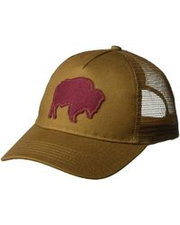 Mountain Khakis - Bison Patch Trucker Cap (coffee) Caps - Lyst