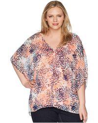 NYDJ - Chiffon Caftan Popover (stargazer Desert Flower) Women's Clothing - Lyst
