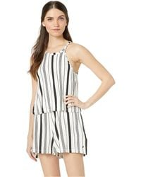 4e3d75cad7ef Roxy - Favorite Song Romper (marshmallow Licorice Stripe) Women s Jumpsuit    Rompers One Piece
