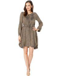 Scully - Lesley Acid Wash Dress (tobacco) Women's Dress - Lyst