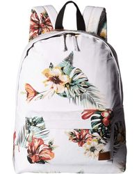 d2ac13bff487 Roxy - Sugar Baby Canvas Backpack (marshmallow Tropical Nights) Backpack  Bags - Lyst