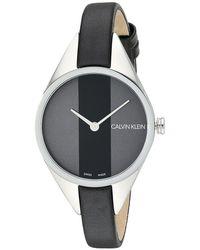 Calvin Klein - Rebel Watch - K8p231c1 (black) Watches - Lyst
