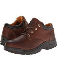 Timberland - Titan(r) Oxford Soft Toe (haystack Brown Oiled Full-grain Leather) Men's Industrial Shoes - Lyst