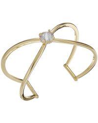 Vince Camuto - Cz Rivoli X Cuff Bracelet (silver) Bracelet - Lyst