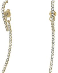 Vince Camuto | Pave Linear Lobe Earrings | Lyst
