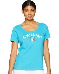 Life Is Good. - Chillin' Beach Ball Crusher Scoop Neck T-shirt (vivid Blue) Women's T Shirt - Lyst