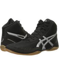 Asics - Matflex(r) 5 (black/silver) Men's Wrestling Shoes - Lyst